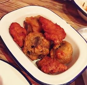 Chicken and Black Pudding Pakoras